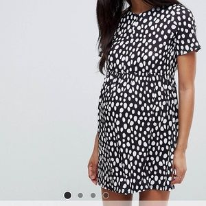 Asos maternity nursing zip through dress size 4